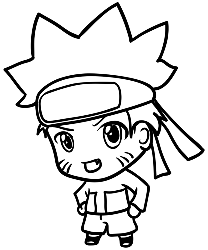 Learn easy to draw Naruto Chibi step 09
