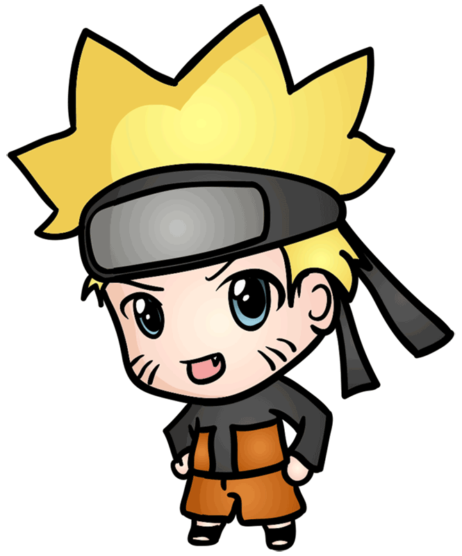 Learn easy to draw Naruto Chibi step 10