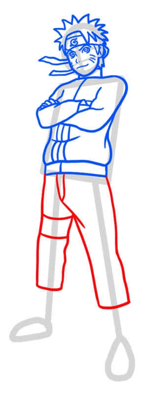 Learn easy to draw Naruto Naruto step 06