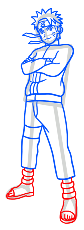 Learn easy to draw Naruto Naruto step 07