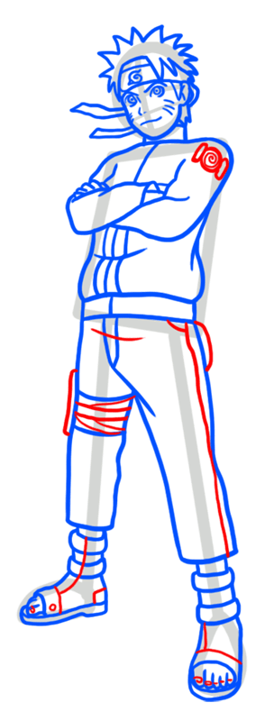 Learn easy to draw Naruto Naruto step 08