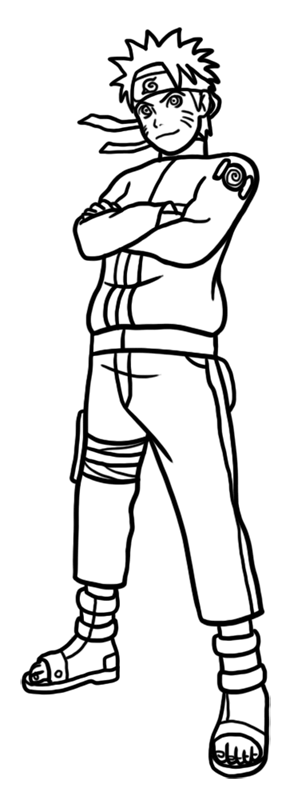 Learn easy to draw Naruto Naruto step 09