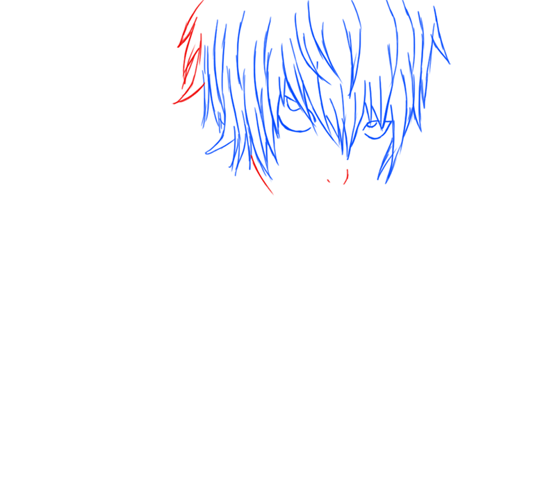 Learn easy to draw Near Death Note step 07