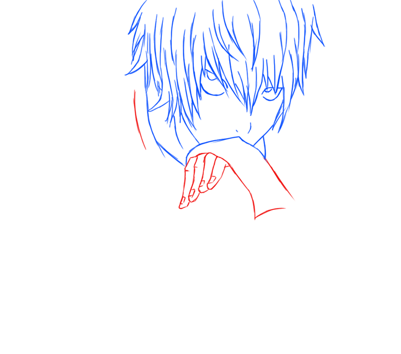 Learn easy to draw Near Death Note step 09