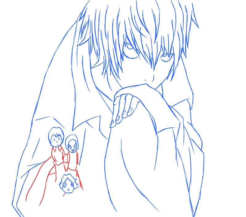 Learn easy to draw Near Death Note step 13