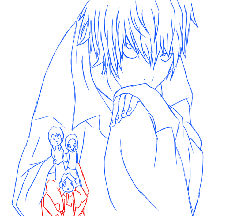 Learn easy to draw Near Death Note step 14