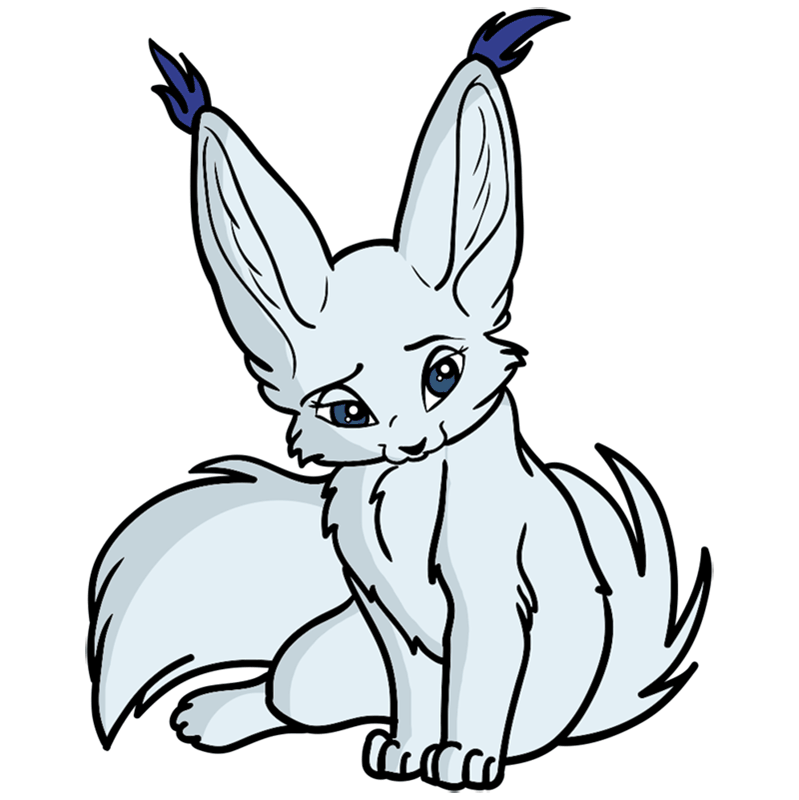 Learn easy to draw Nice Fennec Fox step 00