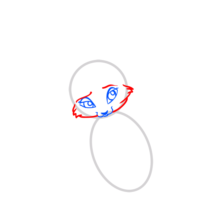 Learn easy to draw Nice Fennec Fox step 03