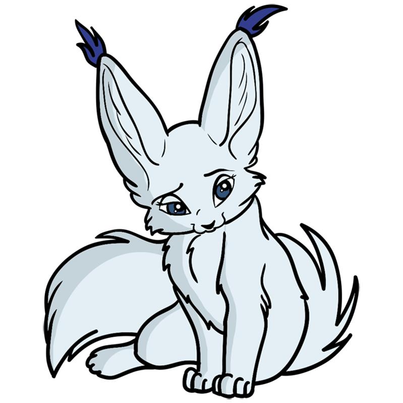 Learn easy to draw Nice Fennec Fox step 13