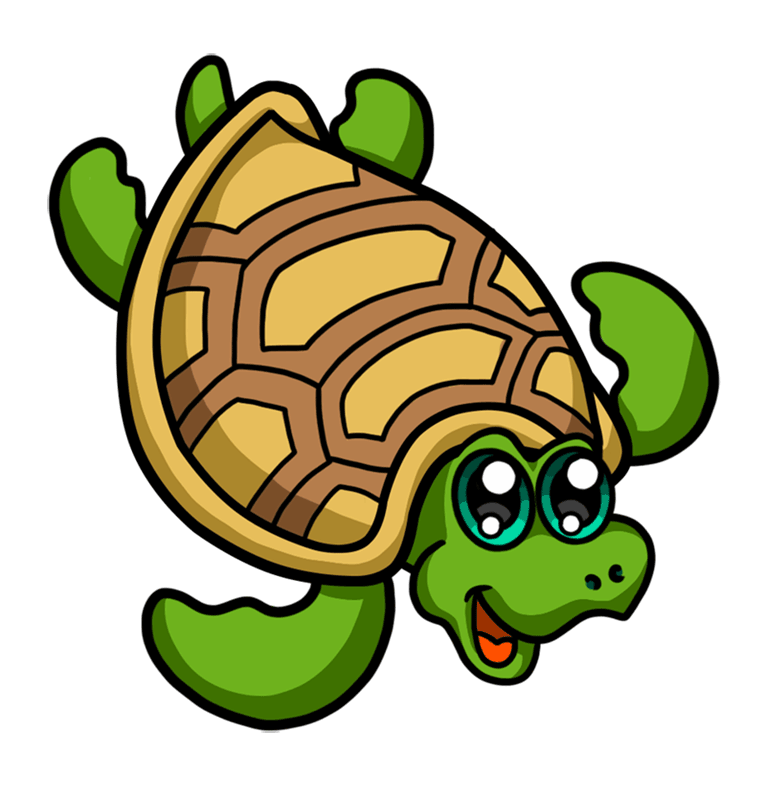 Learn easy to draw Nice Turtle step 09