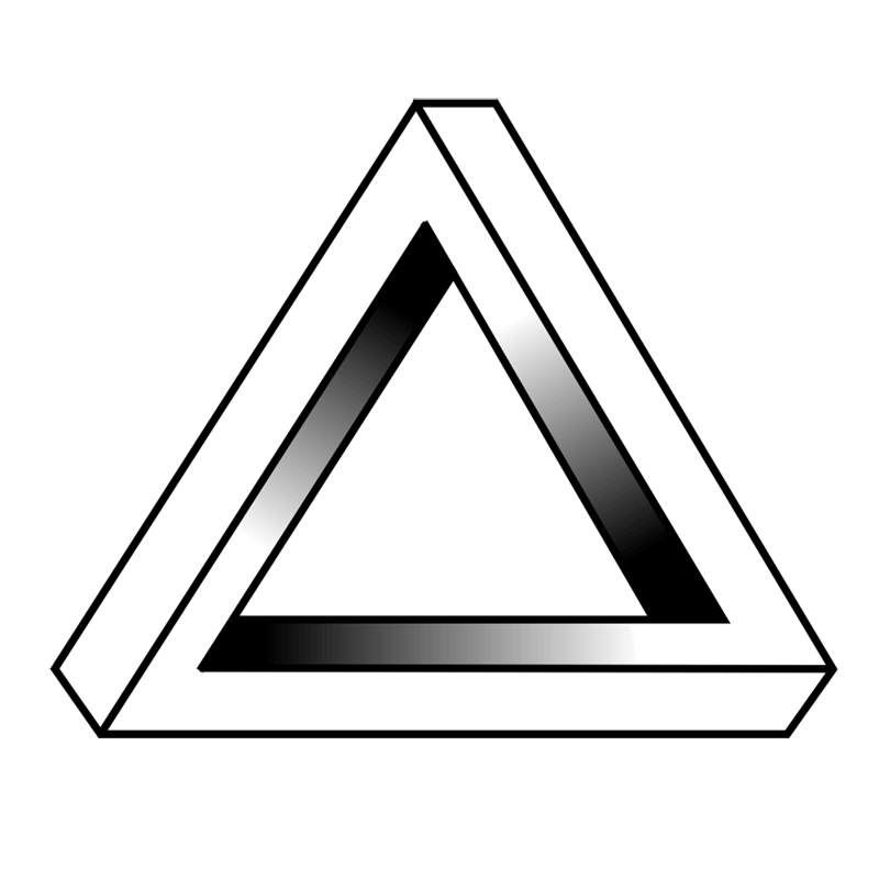 Learn easy to draw Penrose Triangle step 00