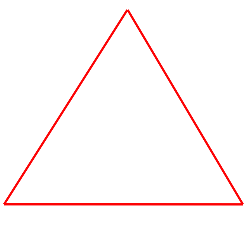 Learn easy to draw Penrose Triangle step 01