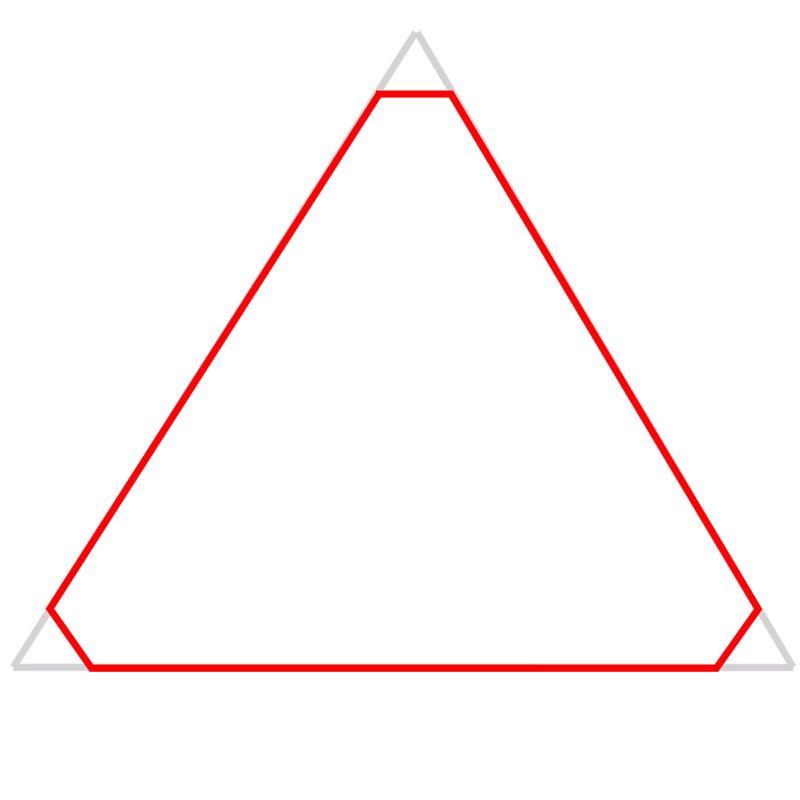 Learn easy to draw Penrose Triangle step 02
