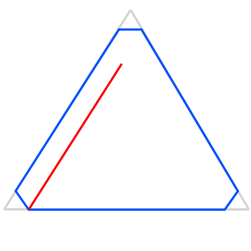 Learn easy to draw Penrose Triangle step 03