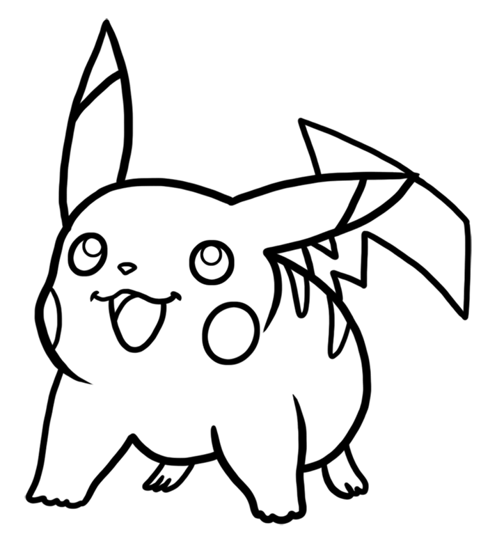 Learn easy to draw Pikachu Pokemons step 06