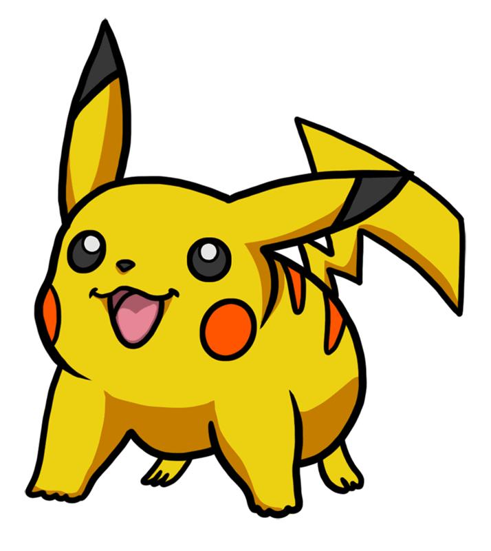 Learn easy to draw Pikachu Pokemons step 07