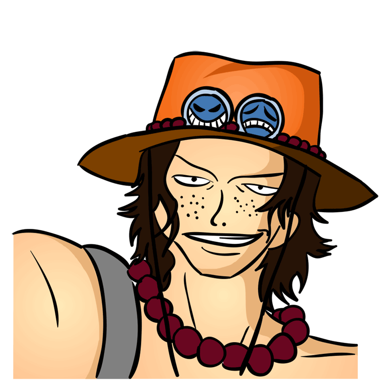Learn easy to draw Pontgas Face One Piece step 00