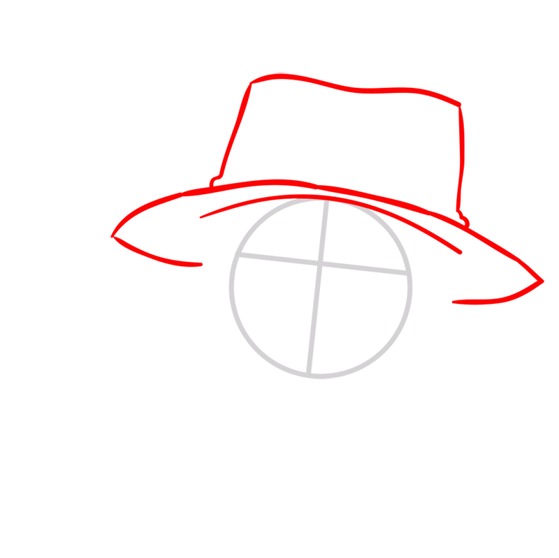 Learn easy to draw Pontgas Face One Piece step 02
