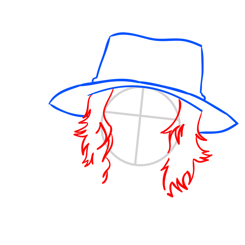 Learn easy to draw Pontgas Face One Piece step 03