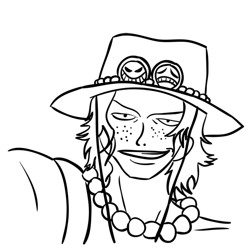 Learn easy to draw Pontgas Face One Piece step 10