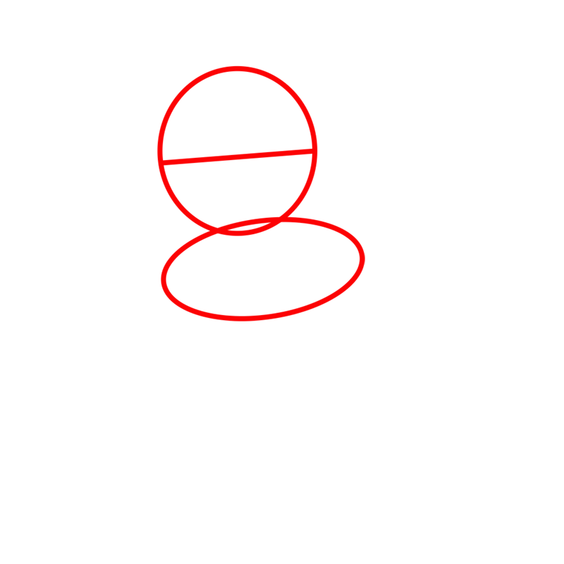 Learn easy to draw Ponyo Ghibli Characters step 01