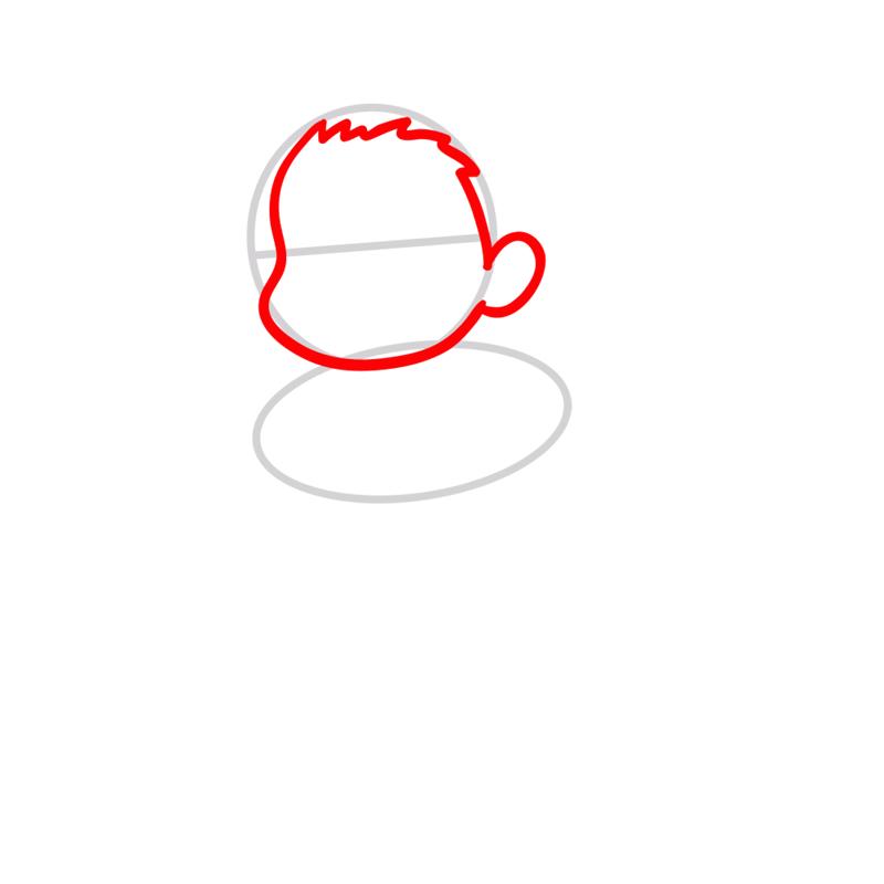 Learn easy to draw Ponyo Ghibli Characters step 02