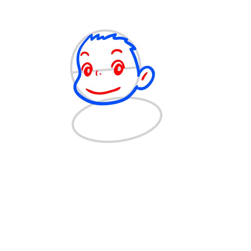 Learn easy to draw Ponyo Ghibli Characters step 03