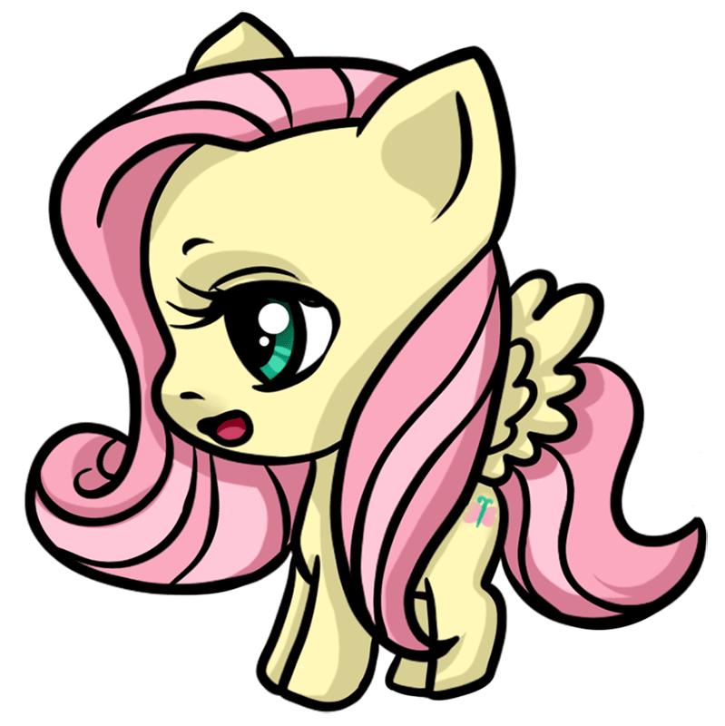 Learn easy to draw Pretty Pony step 00