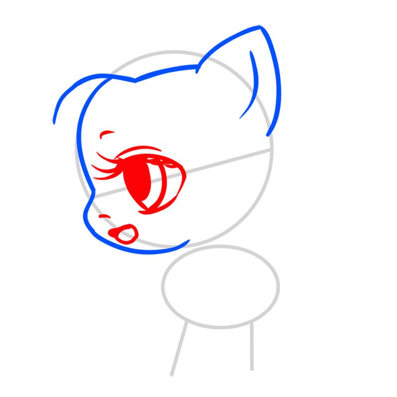 Learn easy to draw Pretty Pony step 03