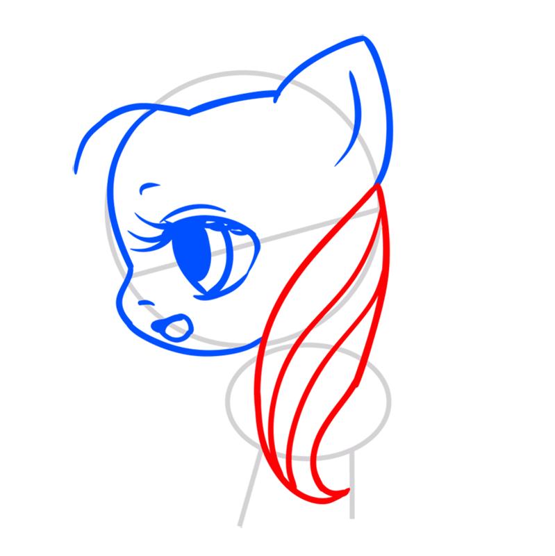 Learn easy to draw Pretty Pony step 04