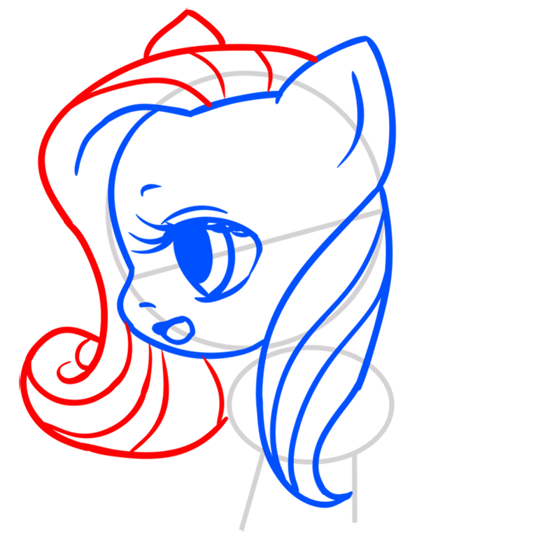 Learn easy to draw Pretty Pony step 05