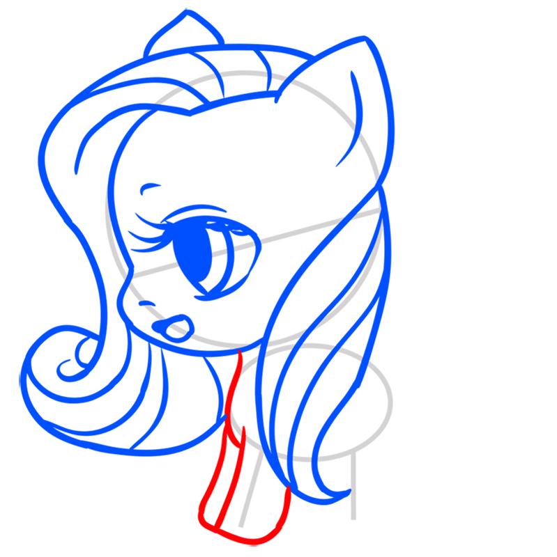 Learn easy to draw Pretty Pony step 06