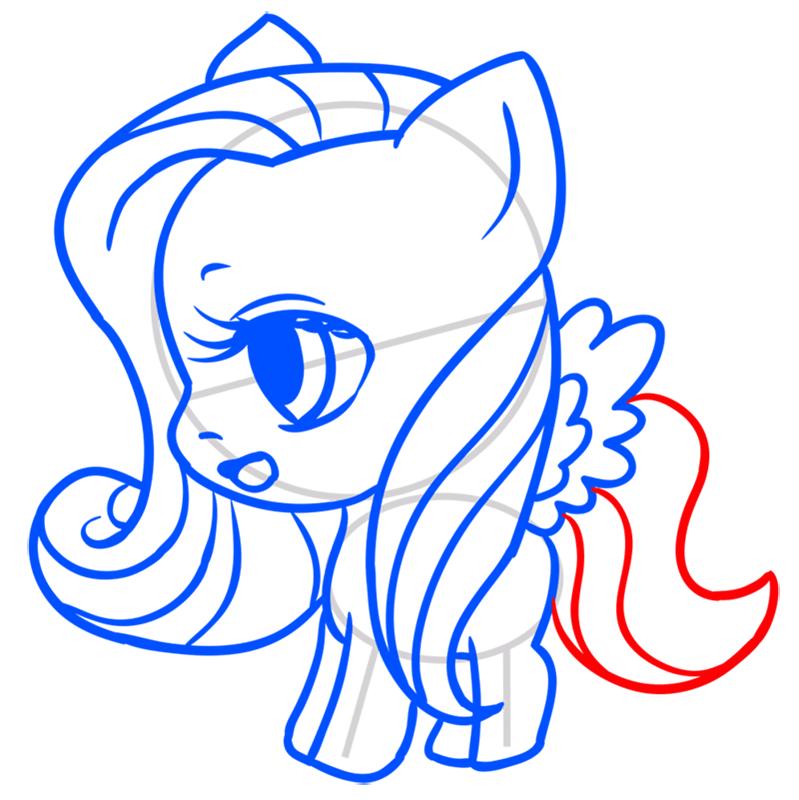 Learn easy to draw Pretty Pony step 09