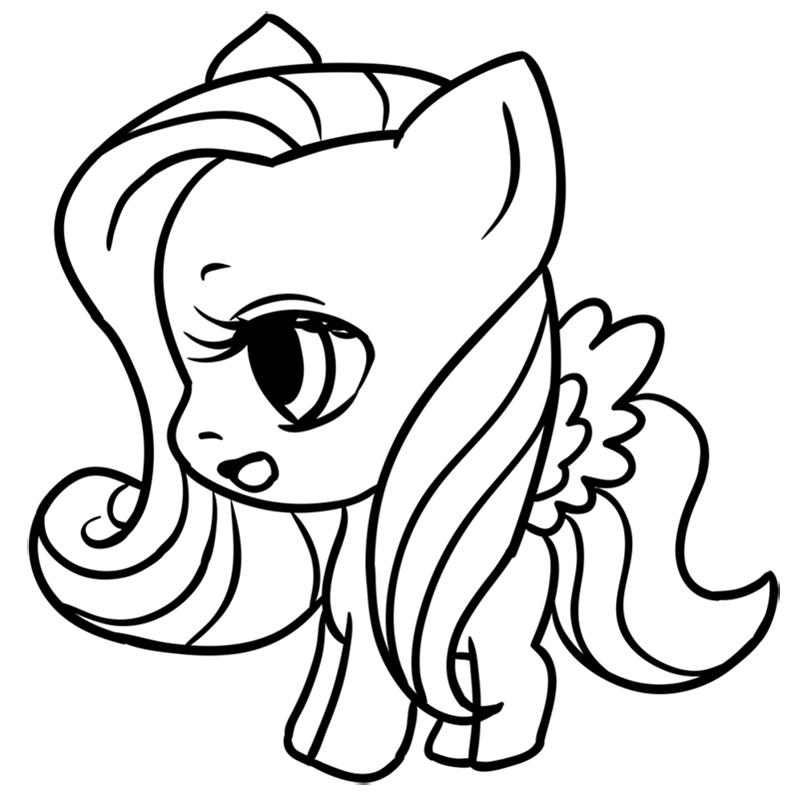 Learn easy to draw Pretty Pony step 10