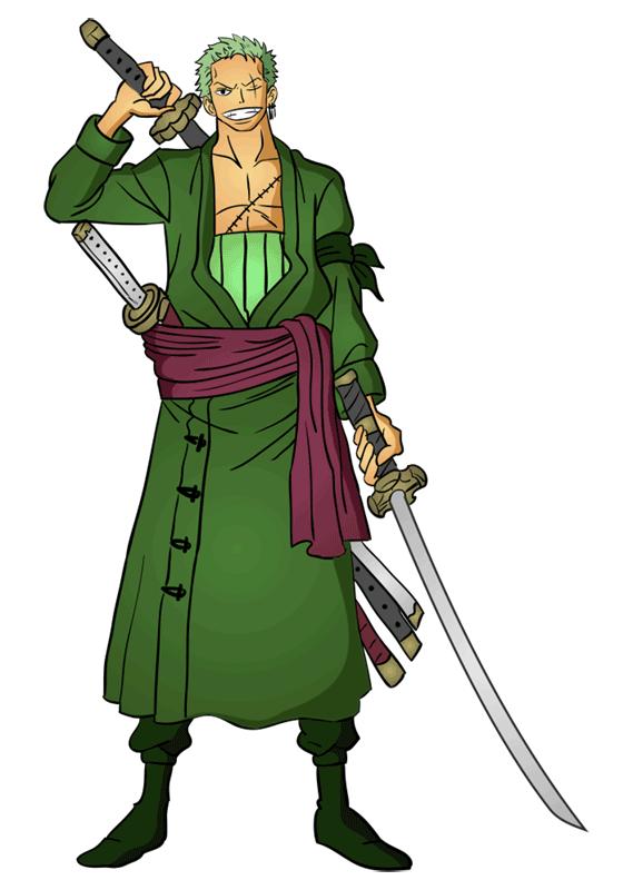 Learn easy to draw Roronoa Zoro One Piece step 16