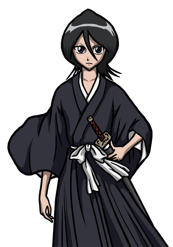 Learn easy to draw Rukia Kuchiki Bleach step 00