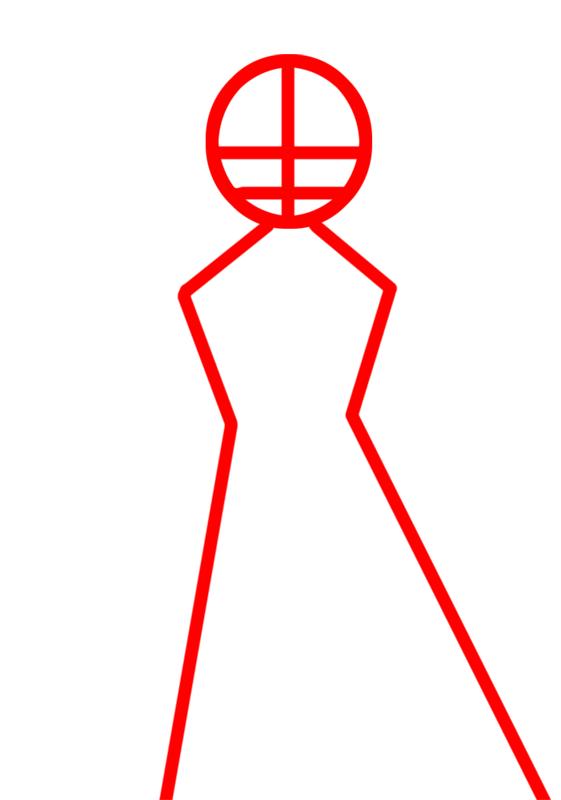Learn easy to draw Rukia Kuchiki Bleach step 01