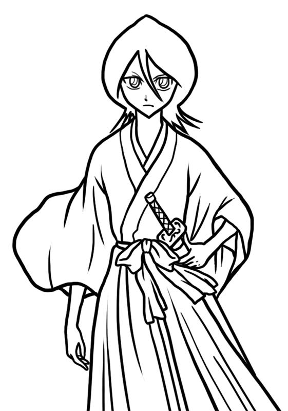 Learn easy to draw Rukia Kuchiki Bleach step 09