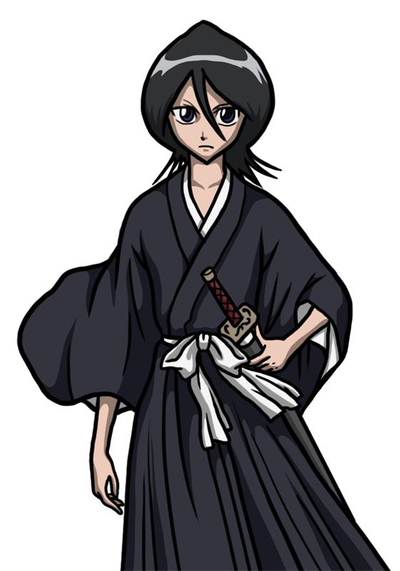 Learn easy to draw Rukia Kuchiki Bleach step 10