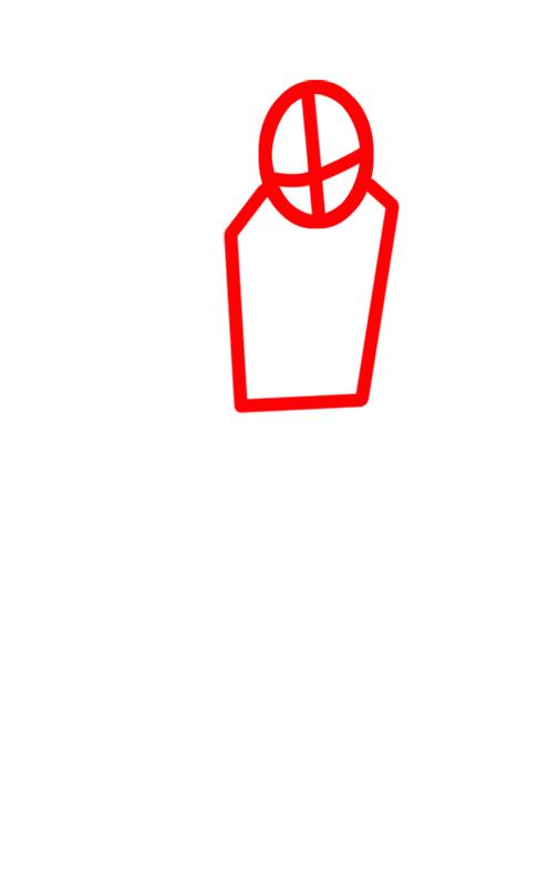 Learn easy to draw Sasuke Naruto step 01