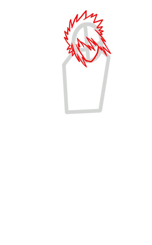 Learn easy to draw Sasuke Naruto step 02