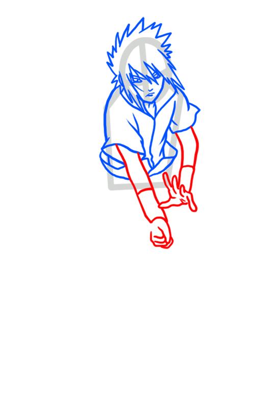 Learn easy to draw Sasuke Naruto step 05