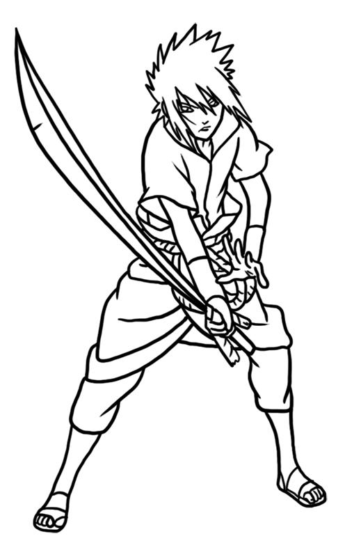 Learn easy to draw Sasuke Naruto step 09