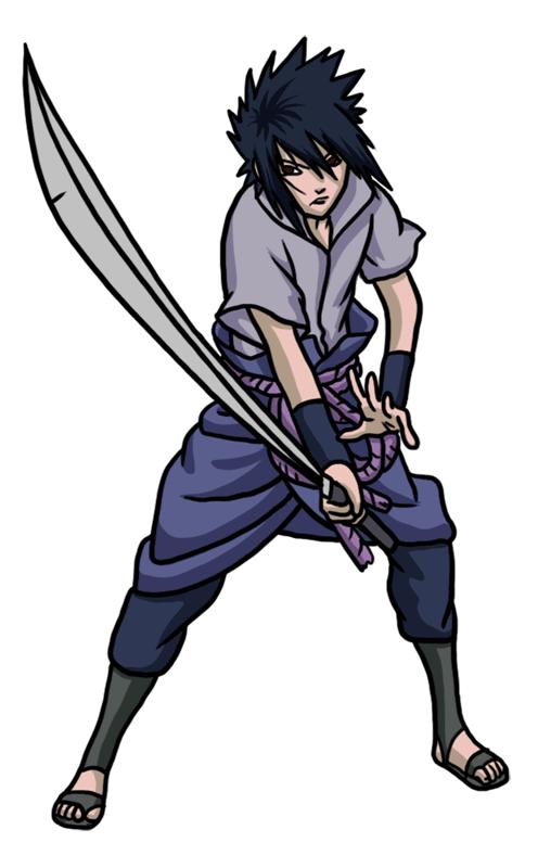 Learn easy to draw Sasuke Naruto step 10
