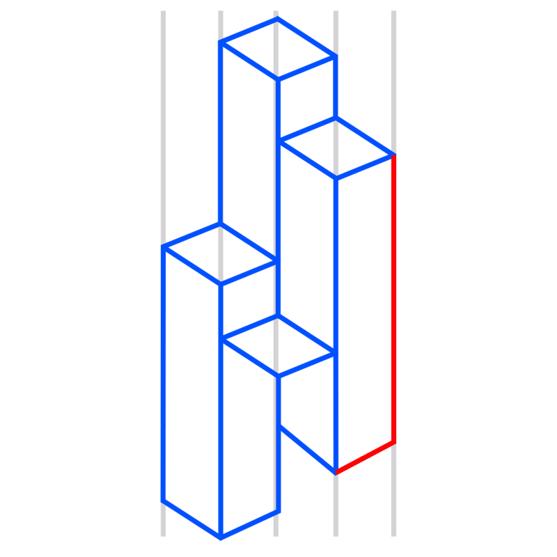 Learn easy to draw Skyscrapers step 08