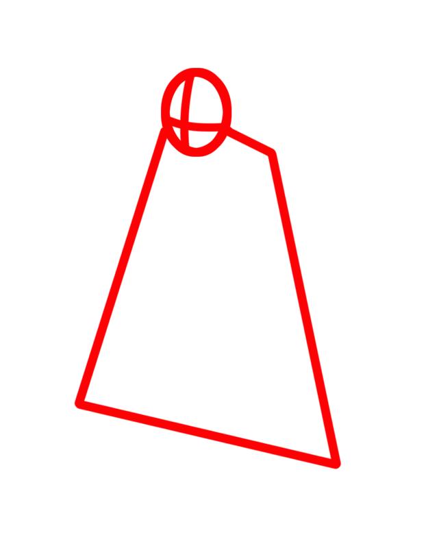 Learn easy to draw Toshiro Hitsugaya Bleach step 01