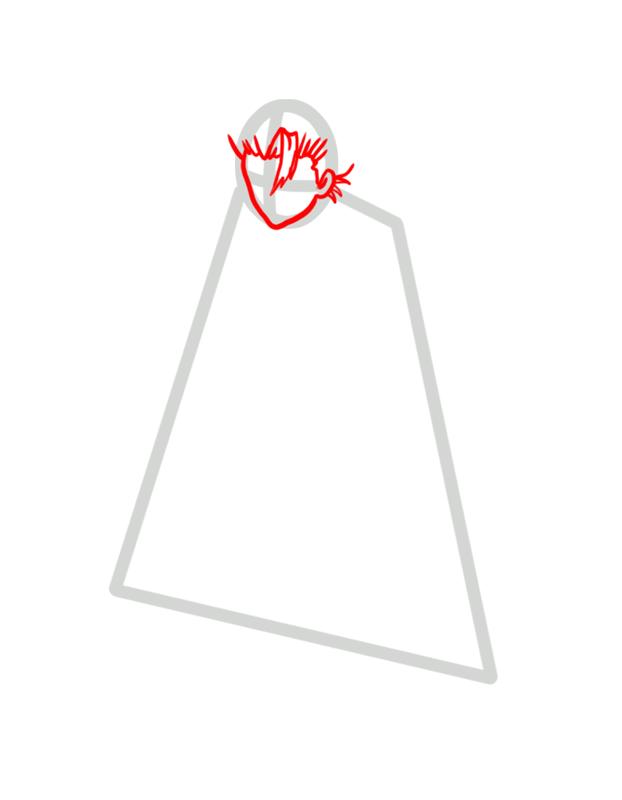 Learn easy to draw Toshiro Hitsugaya Bleach step 02