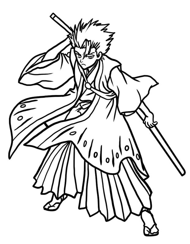 Learn easy to draw Toshiro Hitsugaya Bleach step 10