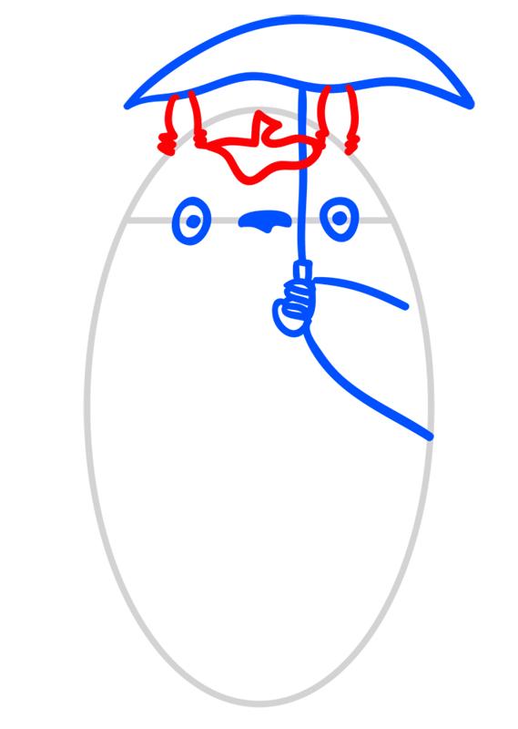 Learn easy to draw Totoro Ghibli Characters step 05