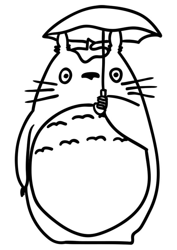 Learn easy to draw Totoro Ghibli Characters step 09